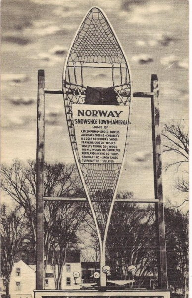 Norway Snow Shoe Sign