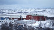Western camp , arrival center for refugees in Kirkenes .