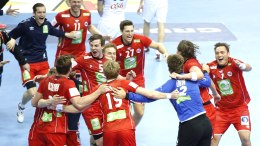 Handball European Championship in 2016 for men. France-Norway