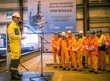 Kjetel Digre, senior vice president for the Johan Sverdrup project.