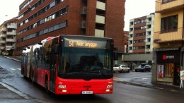 Bus in the streets of Oslo