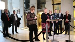 Prime Minister Erna Solberg reports on asylum policy