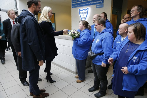 Crown Prince Haakon and Crown Princess Mette Marit opens the new Furuset library and activity center