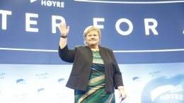 Erna Solberg re-elected to tumultuous applause
