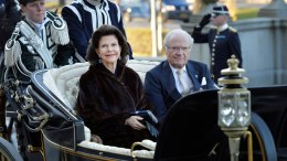 Sweden's Queen Silvia and King Carl Gustaf