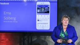 Prime Minister Erna Solberg open Facebook's office in Oslo.