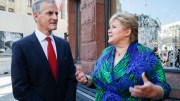 Prime Minister Erna Solberg (Conservative Party) of party leader Jonas Gahr Støre (Labor)