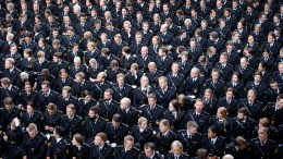 The Police Academy in Oslo .Ceremony in Oslo City Hall