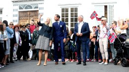 Crown prince and princess attends the commemoration of Kragerø City 350th anniversary.