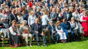 King and Queen invite to outdoor cinema in the castle park