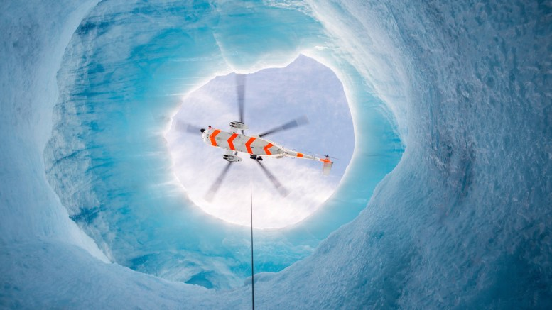 """a """"mysterious"""" holes in the Blue Man's ice in the Arctic"""