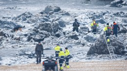 Police and rescue teams are searching with dog in ras area in Sørum