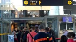 Oslo Airport. Passport queues