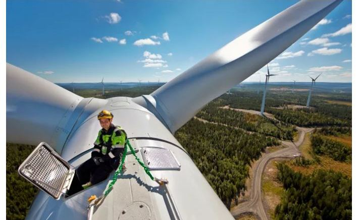 From Stamåsen wind farm in Sweden