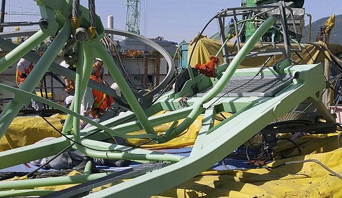 South Korea Crane Collapse