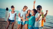 Youth is partying on the beach