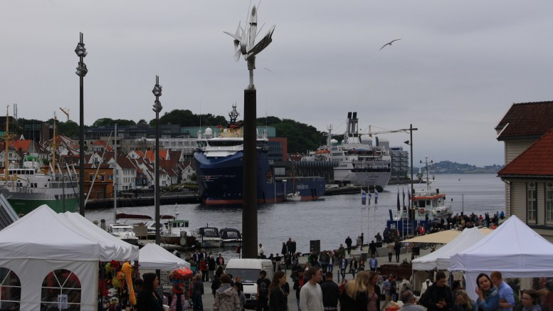 Stavanger Harbour Town square