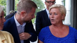 Minister of Health, Bent Høie and Minister of Finance, Siv Jensen, the Radium Hospital
