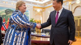 Prime Minister Erna Solberg, and China's President Xi Jinping