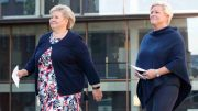 Prime Minister Erna Solberg and Finance Minister Siv Jensen