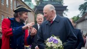 King Harald. Fredrikstad celebrates 450 years