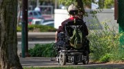 Motorized Wheelchair woman