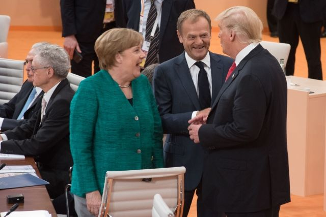 EU Tusk Merkel Trump Trade War