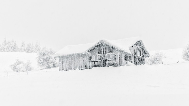 Christmas weather cabin snow