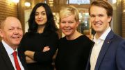Øystein Langholm, Hadia Tajik, Hege Haukeland Liadal and Torstein Tvedt Solberg, parliamentary candidates for the Rogaland Labour Party