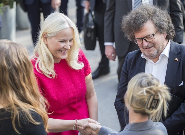 """Crown Princess Mette-Marit is present at the opening of """"The German-Norwegian Literature Festival."""