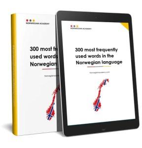 300 most used words in Norwegian