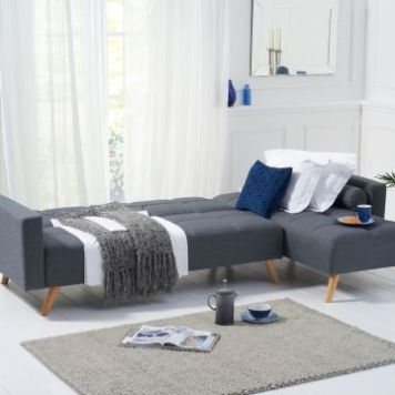 Abigail Grey Linen Right Hand Facing Chaise Sofa