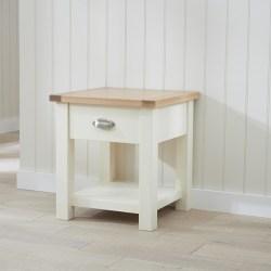 Sandringham Crean and Oak Lamp Table