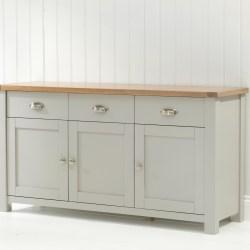Sandringham-Oak-Grey-3-Door-3-Drawer-Sideboard