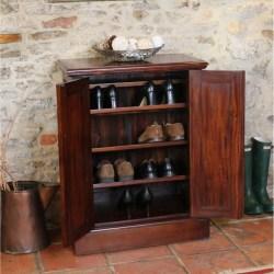 Mahogany Shoe Cupboard