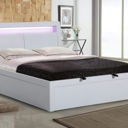 High Gloss King Size Bed
