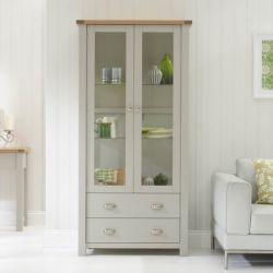 Sandringham Grey Display Cabinet