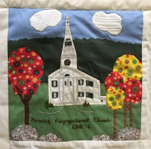 Congregational Church. Ellie Blanchard, Quilter