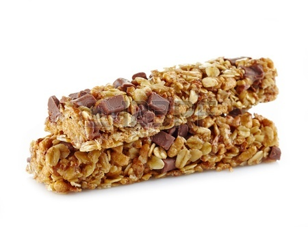 21968343-granola-bars-with-chocolate-on-white-background