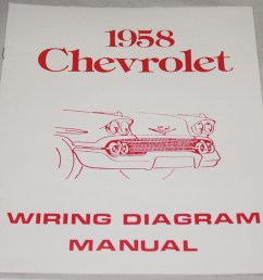 1958 chevrolet wiring diagram manual nos ea  [ 1000 x 889 Pixel ]