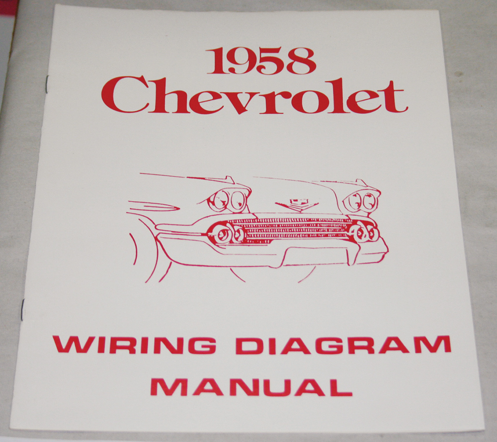 hight resolution of 1958 chevrolet wiring diagram manual nos ea