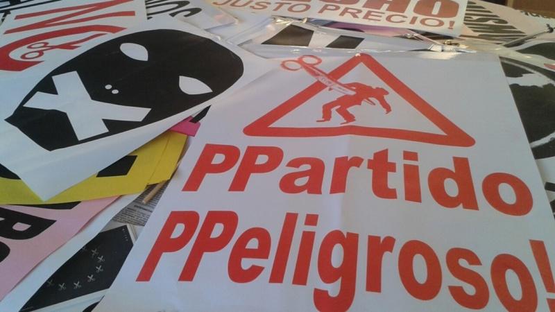 Martin Segrera anti-PP signs