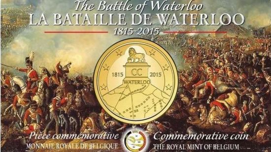 Belgian 2015 coin about 1815 battle of Waterloo