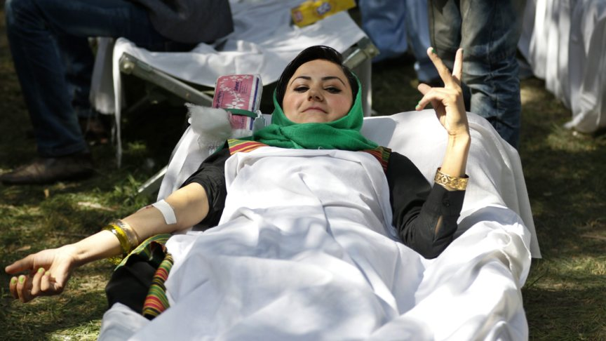 A Doctors Without Borders worker, injured by the Uniited States air force attack on the Kunduz hospital in Afghanistan