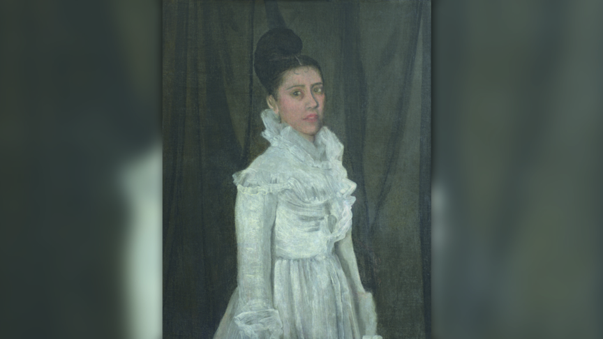 Symphony in White, girl in muslin dress, by James Whistler