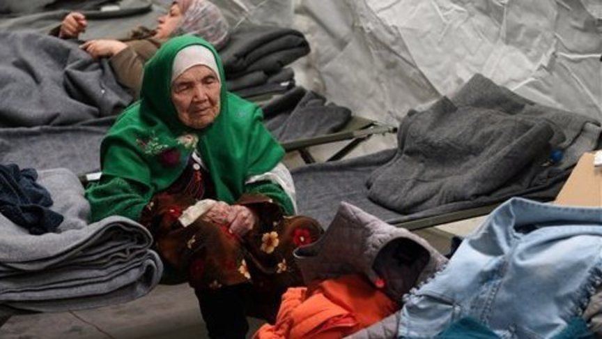 Bibihal Uzbeki in a refugee camp in Croatia, photo: AP
