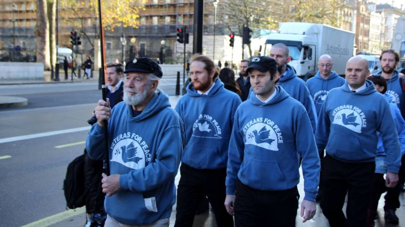 London Veterans for Peace demonstration, 8 December 2015, photo by Sven Schaap/NOS