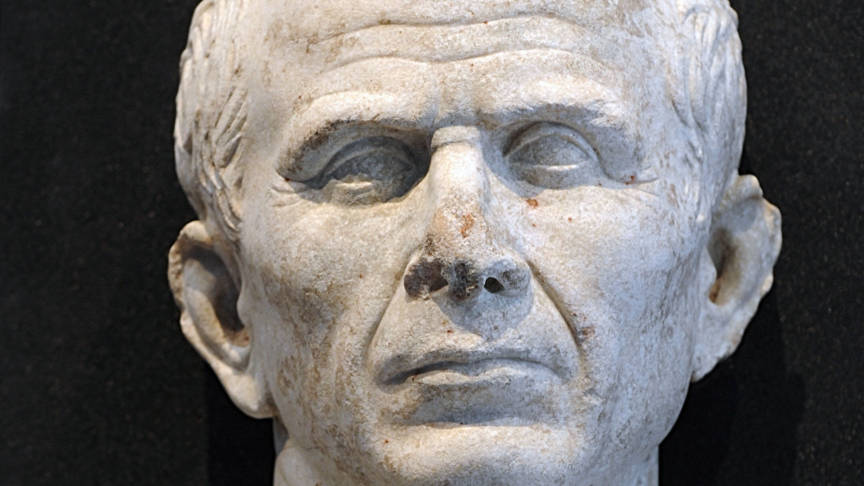 Julius Caesar sculpture, AFP photo
