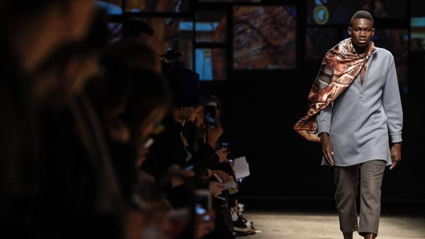 Refugee on Italian fashion catwalk