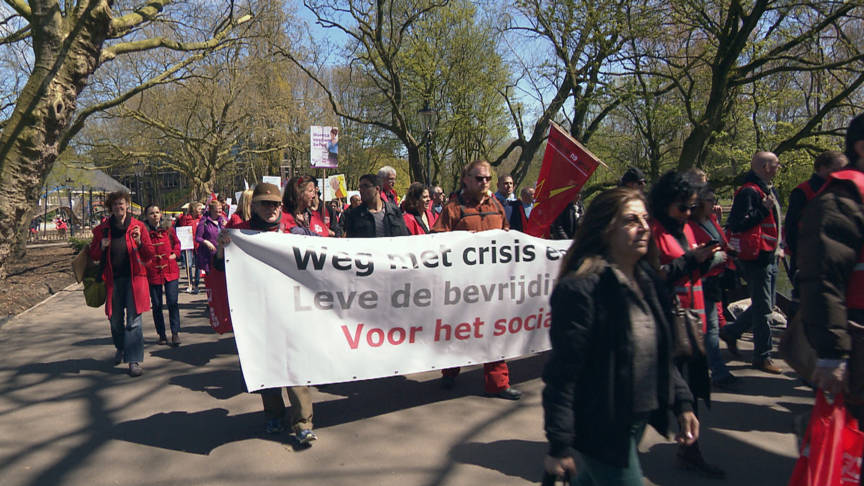 Amsterdam May Day 2016 demonstration